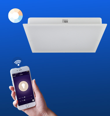 SMAlux Tunable Whit Wi-Fi Square LED Ceiling Light