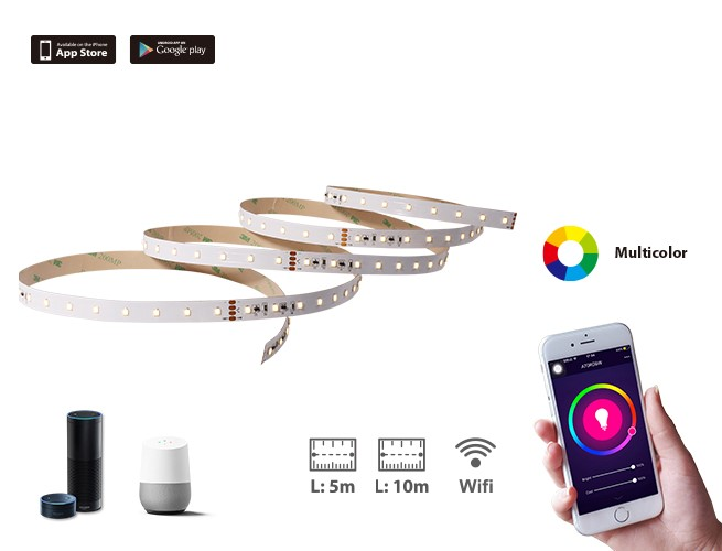 Wi-Fi LED Strip Light- 10m and 5m
