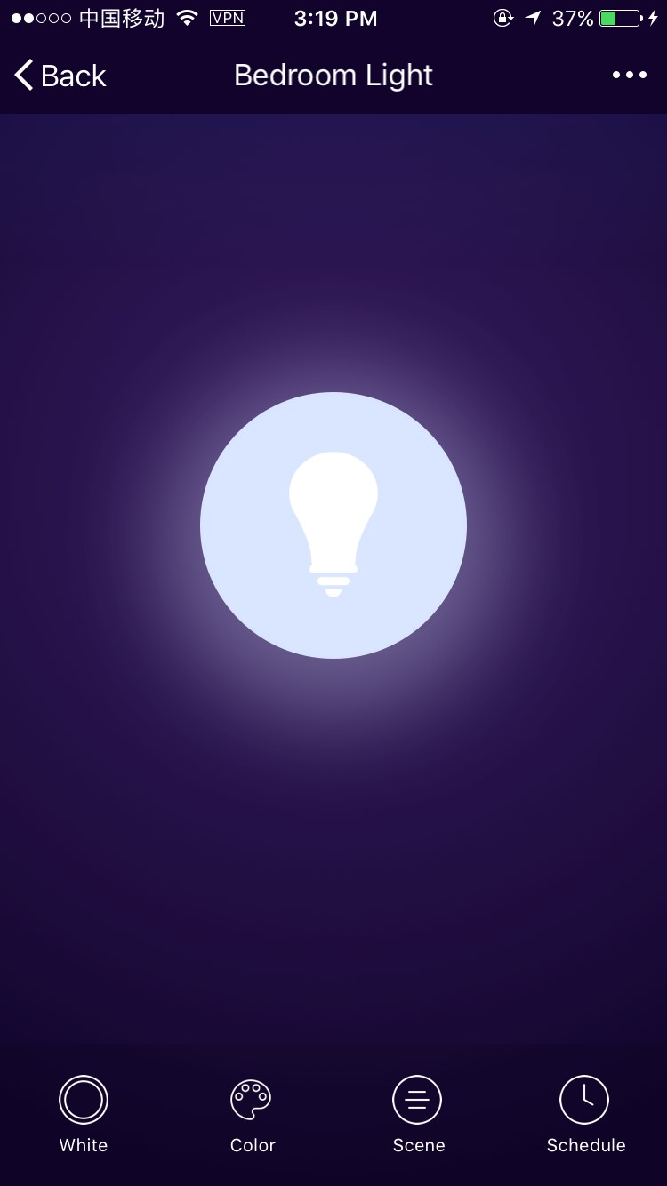 15-A60 Smart Light Bulb On and Off