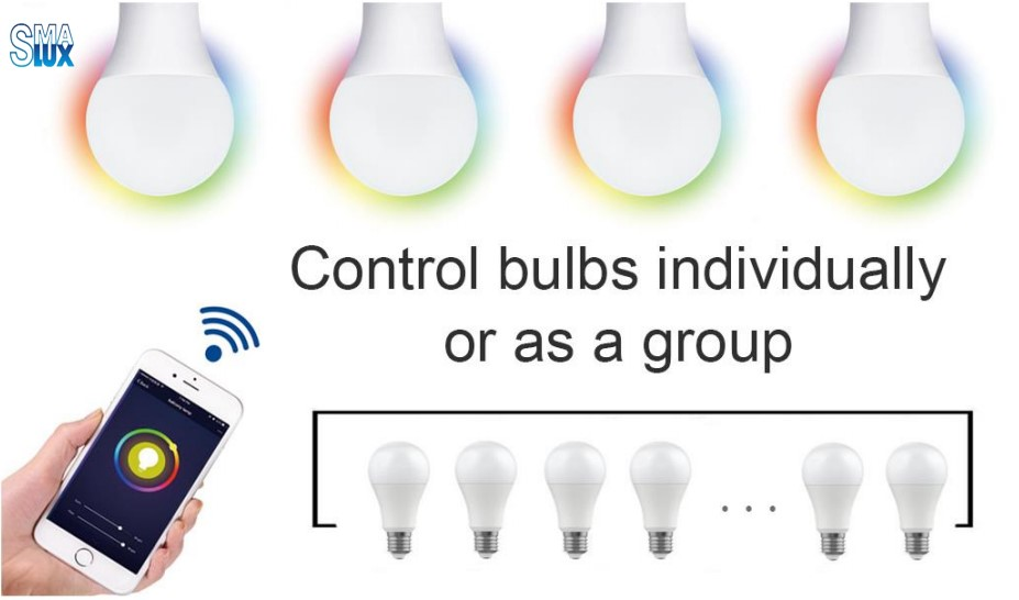 19-A60 Smart Light Bulb Group Control Function