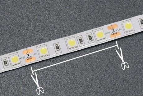 Wi-Fi LED Strip Light Cutting Mark