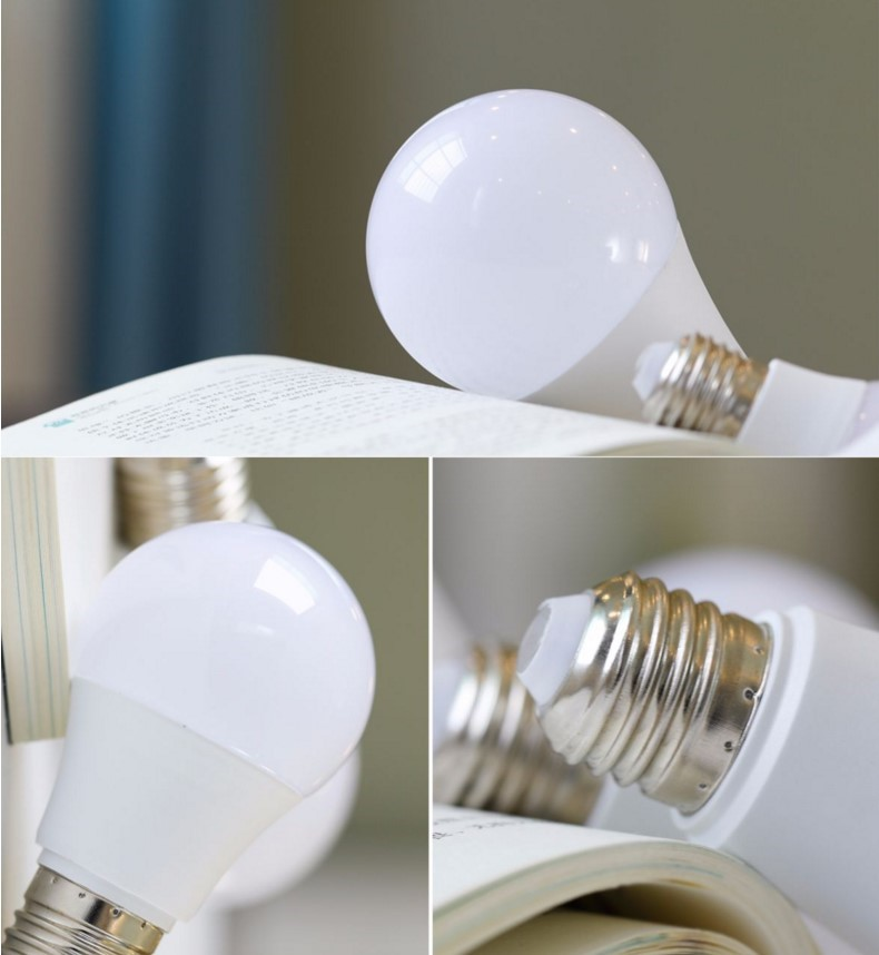 6- A21 LED Smart Light Bulb Top Material-Plastic and Aluminum