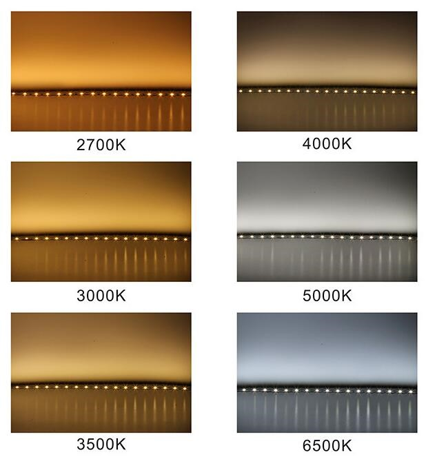 Different Color Temperature Effect of Wi-Fi LED Strip Light