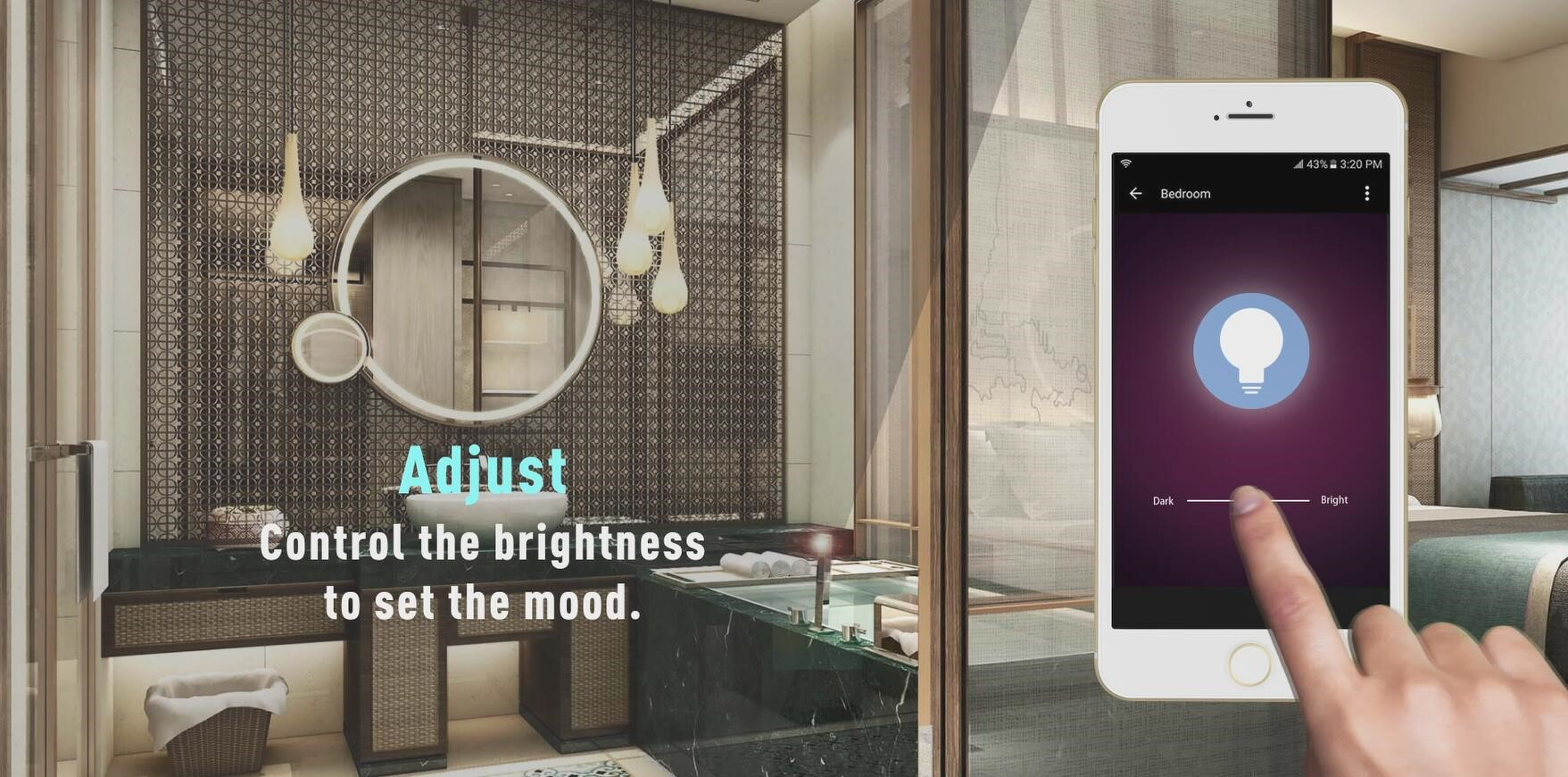 Wi-Fi LED Strip Light-Changing Brightness to Set Mood