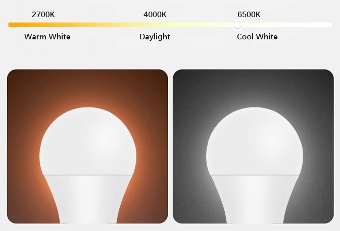 9- A70 Smart LED Light Bulb-Color Temperature Changeable