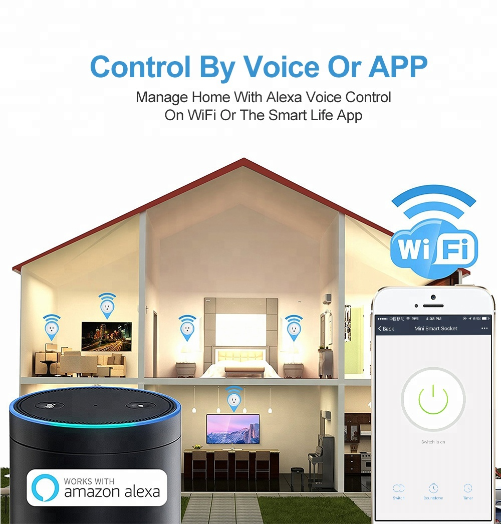 Wi-Fi smart plug could be controlled by voice or APP