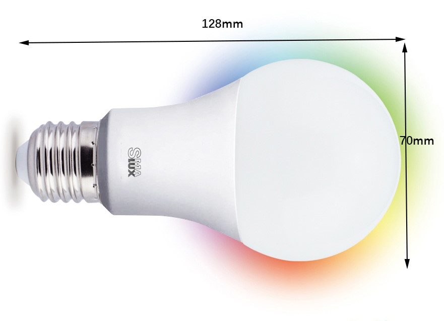 A21 Smart LED Light Bulb Size 70mm128mm
