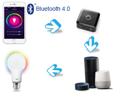 A19 Bluetooth Smart Light Bulb Working Principles (Hub Required)