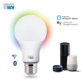 A19 Smart Led Light Bulb - Voice Control through Third Voice Control Devices