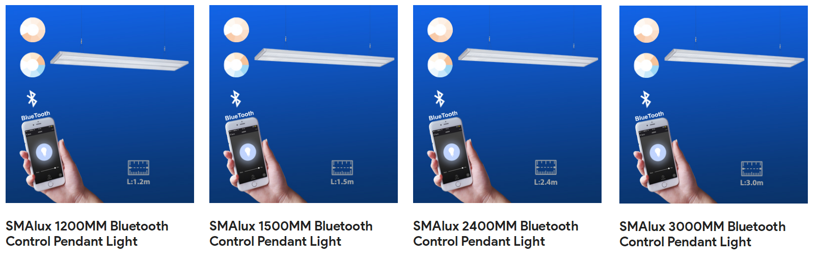 Types of Bluetooth Pendant Light.