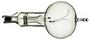 Thomas Edison's original carbon filament bulb