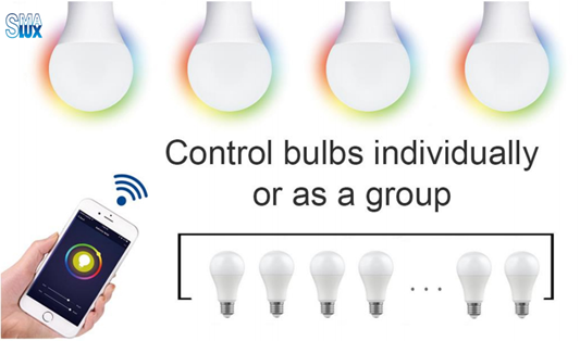 A19 Smart Light Bulb-Group Control