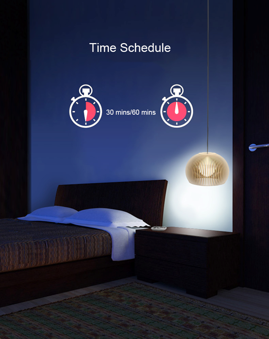 A19 Smart Light Bulb-Set Schedules