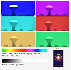 SMAlux BR30 smart light bulb color change