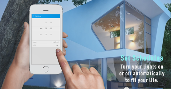 SMAlux Smart LED Downlight Set Schedules