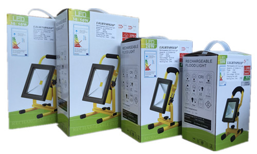 Packaging flood light