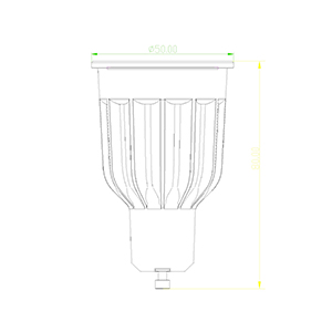 GU10-10W-TP spotlight bulb drawing