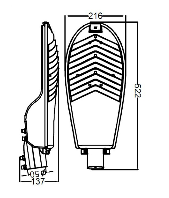 SL1430 street light design drawing