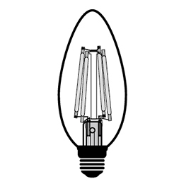 C32 LED filament bulb Design