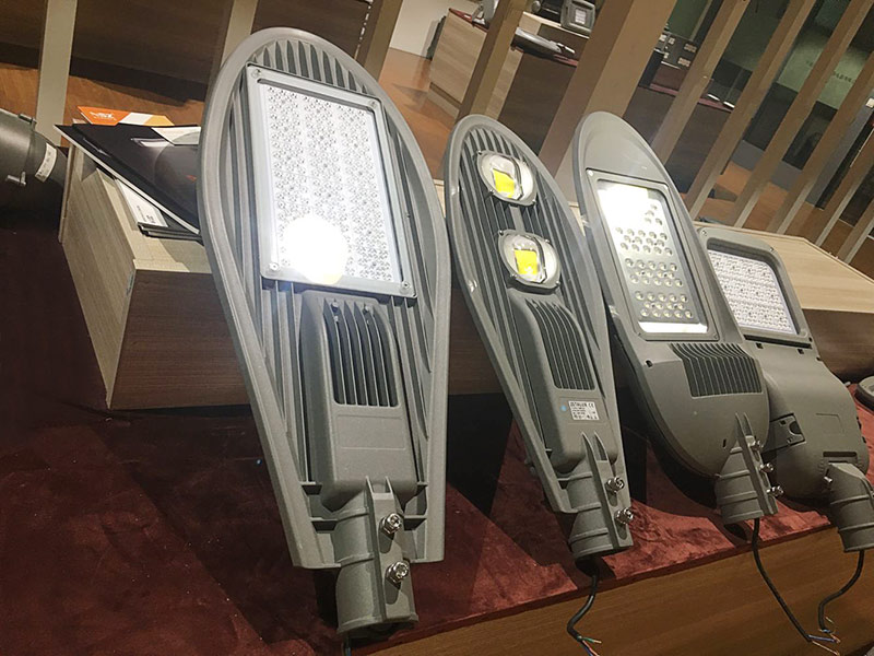 streetlight sample in showroom