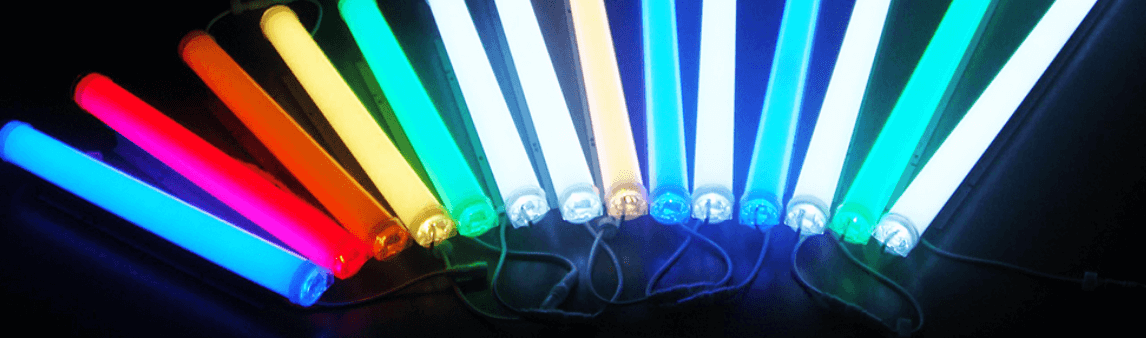 Colored LED tube lights
