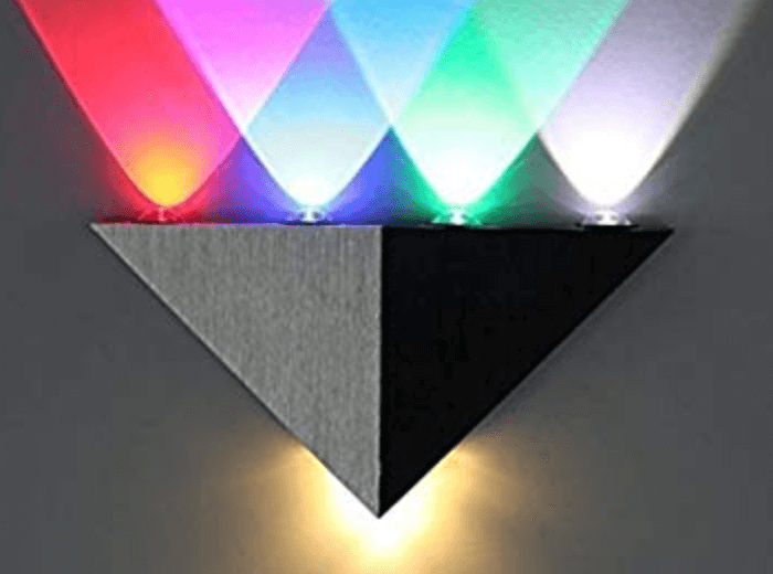 Colored LED wall light