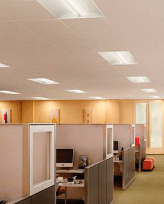 LED tube lights in an office
